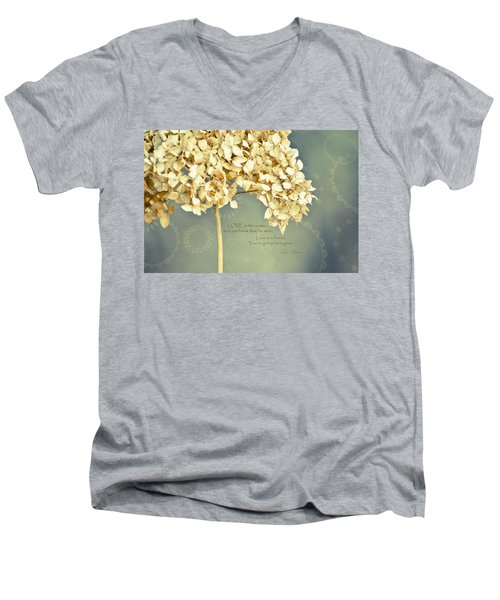 John Lennon Love Men's V-Neck T-Shirt