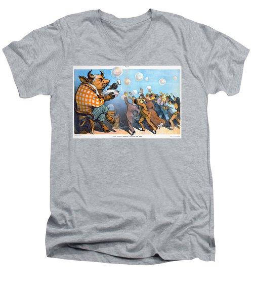 John Pierpont Morgan Men's V-Neck T-Shirt by Granger