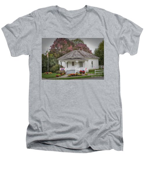 John Wayne Birthplace Men's V-Neck T-Shirt by Lynn Sprowl