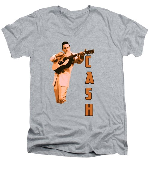 Johnny Cash The Legend Men's V-Neck T-Shirt