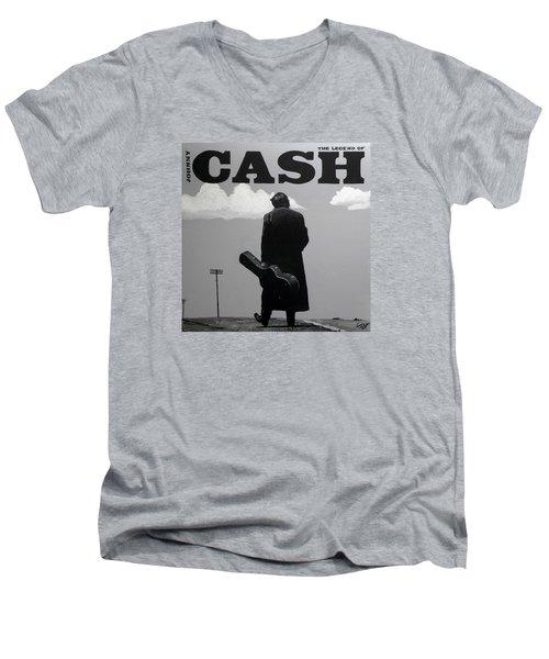 Johnny Cash Men's V-Neck T-Shirt