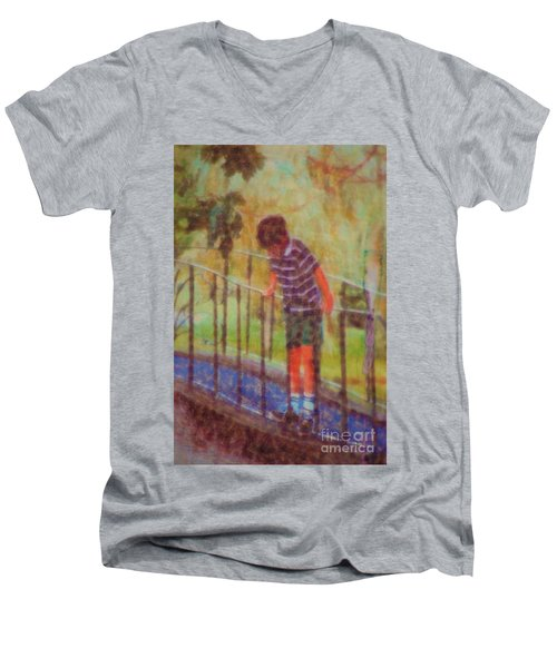 John's Reflection Men's V-Neck T-Shirt