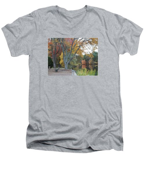 Johnson's Pond Rest Area Men's V-Neck T-Shirt