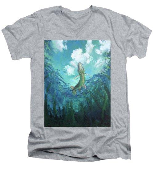 Joi De Vivre Men's V-Neck T-Shirt