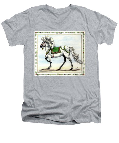 Men's V-Neck T-Shirt featuring the painting Jol  by Shari Nees