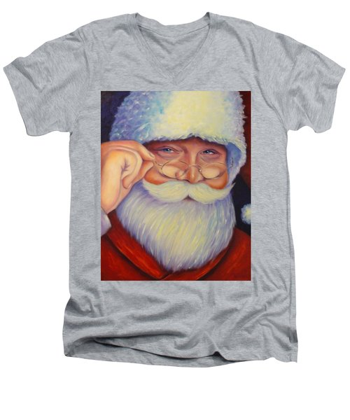 Jolly Old Saint Nick Men's V-Neck T-Shirt