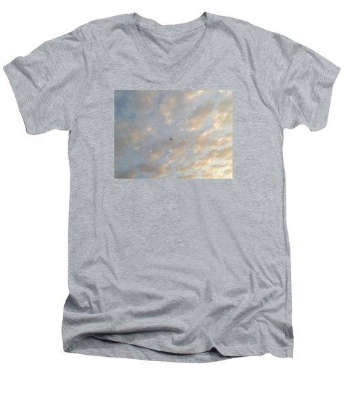 Jonathan Livingston Seagull Men's V-Neck T-Shirt by LeeAnn Kendall