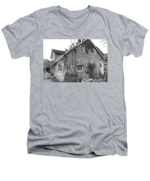 Jones Hardware From Behind, Pequannock Men's V-Neck T-Shirt
