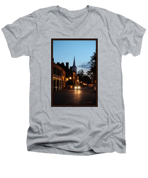Jonesborough Tennessee 10 Men's V-Neck T-Shirt by Steven Lebron Langston