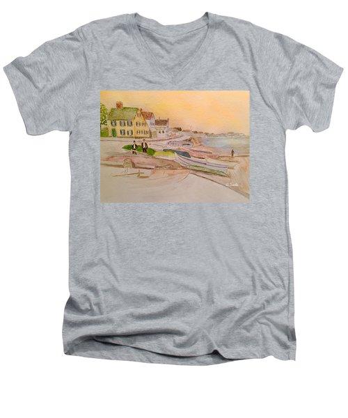 Joppa Flats Newburyport Men's V-Neck T-Shirt