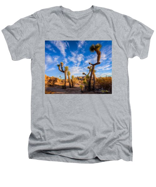 Joshua Tree Dawn Men's V-Neck T-Shirt