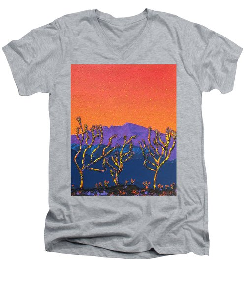 Joshua Trees Men's V-Neck T-Shirt