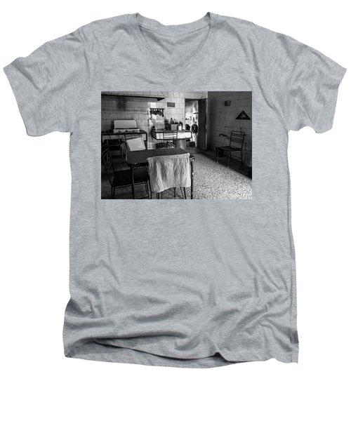Men's V-Neck T-Shirt featuring the photograph Josie's Kitchen Havana Cuba by Joan Carroll