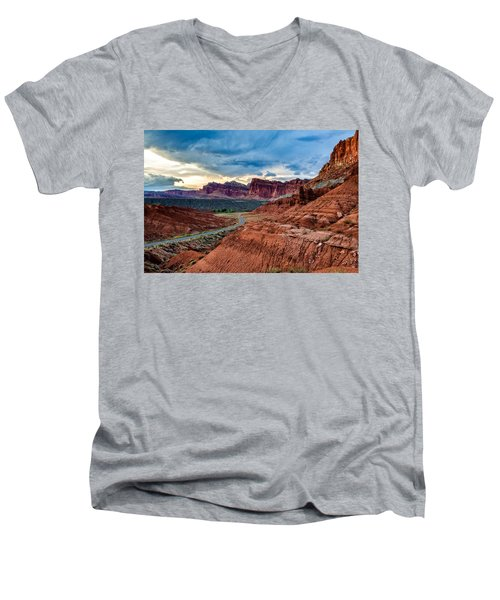 Journey Through Capitol Reef Men's V-Neck T-Shirt