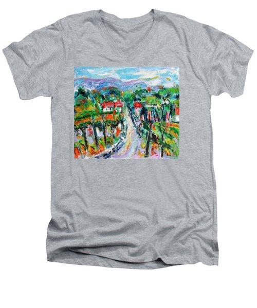 Journey Through The Vines Men's V-Neck T-Shirt
