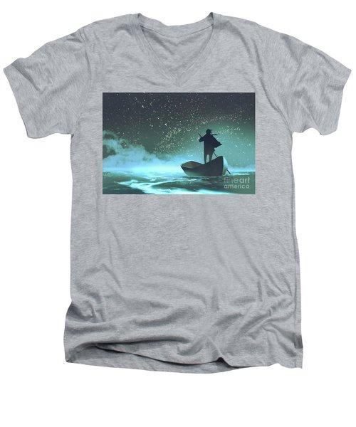 Journey To The New World Men's V-Neck T-Shirt