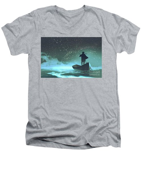 Journey To The New World Men's V-Neck T-Shirt