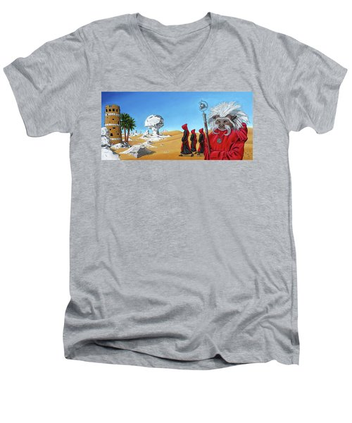 Journey To The White Desert Men's V-Neck T-Shirt