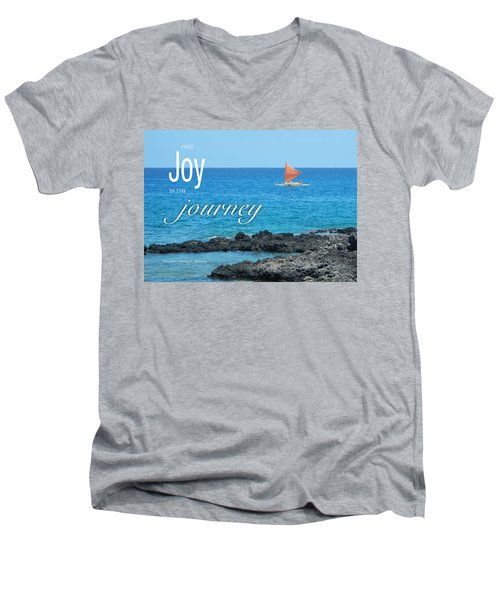 Joy In The Journey Men's V-Neck T-Shirt