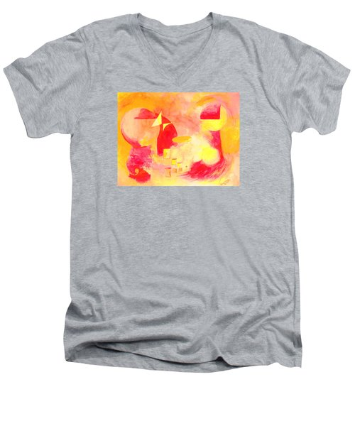 Joyful Abstract Men's V-Neck T-Shirt