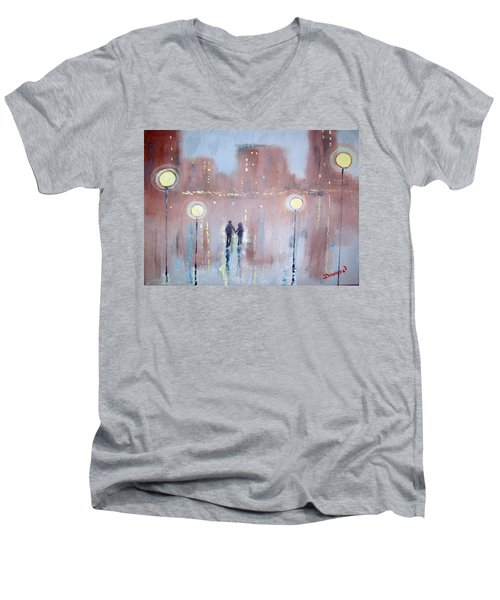 Joyful Bliss Men's V-Neck T-Shirt by Raymond Doward