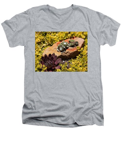 Joyful Living In Hard Times Men's V-Neck T-Shirt