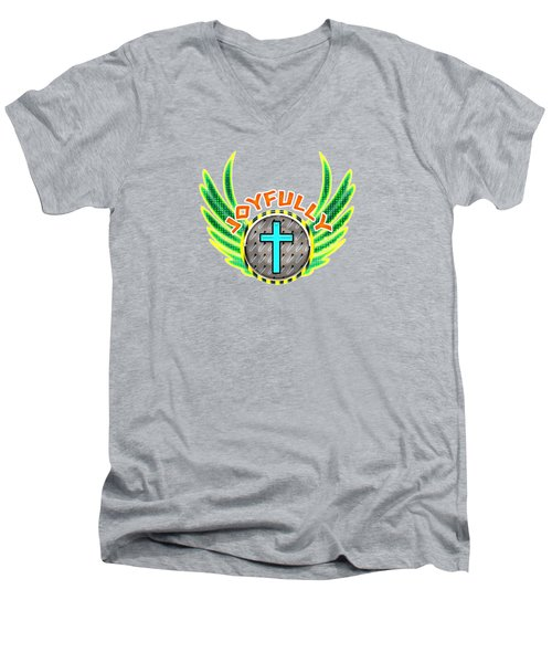 Joyfully Men's V-Neck T-Shirt