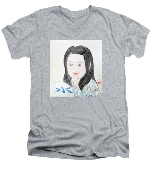 Jozen Mizu No Gotoshi Men's V-Neck T-Shirt