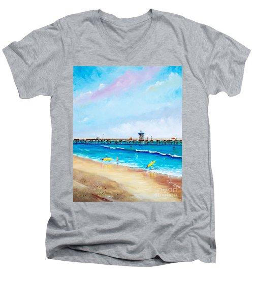 Jr. Lifeguards Men's V-Neck T-Shirt