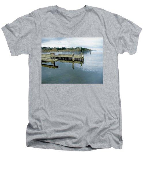 Juanita Bay In Gray Men's V-Neck T-Shirt