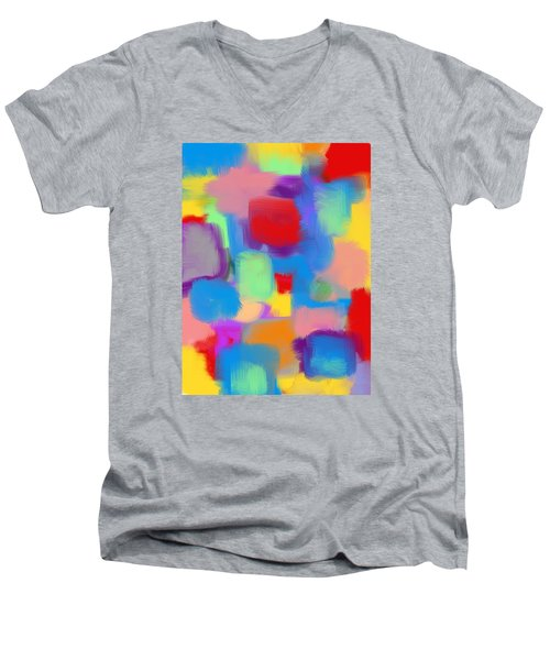 Juicy Shapes And Colors Men's V-Neck T-Shirt