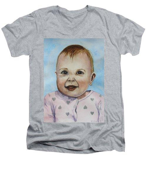 Julianna Men's V-Neck T-Shirt by Betty-Anne McDonald