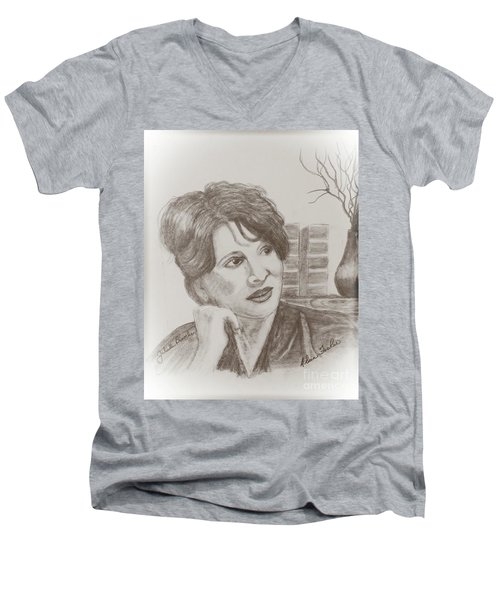 Juliette Binoche Men's V-Neck T-Shirt