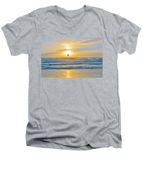 July 30 Sunrise Nh Men's V-Neck T-Shirt