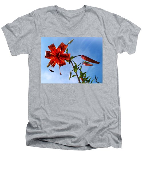 July Men's V-Neck T-Shirt by Joy Nichols