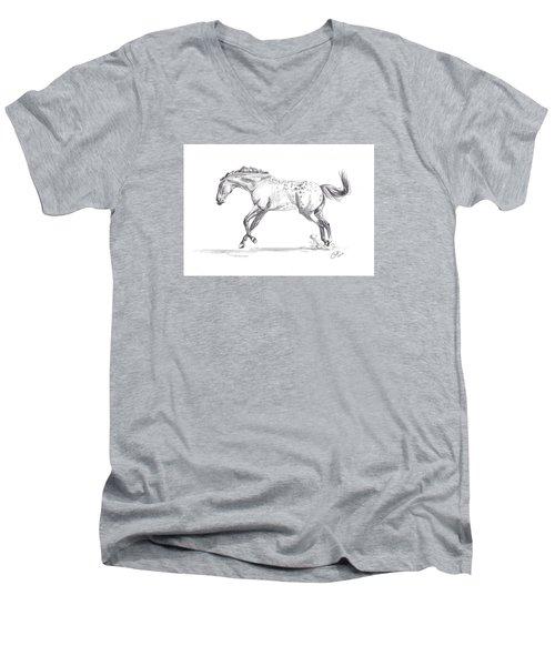 Jumping Around Men's V-Neck T-Shirt