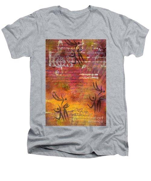 Jumping For Joy Men's V-Neck T-Shirt