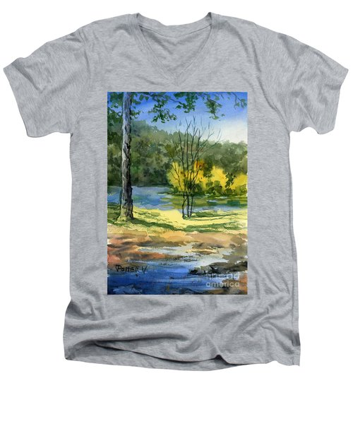 Junction Of White And Spring Rivers Men's V-Neck T-Shirt