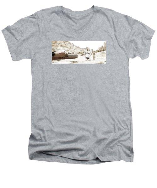 Jundland Wastes Men's V-Neck T-Shirt by Kurt Ramschissel