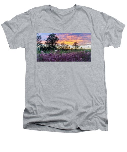 June Color At The Rimrocks Men's V-Neck T-Shirt