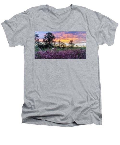 June Color At The Rimrocks Men's V-Neck T-Shirt