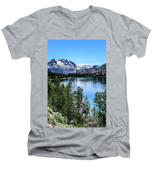 June Lake Portrait Men's V-Neck T-Shirt