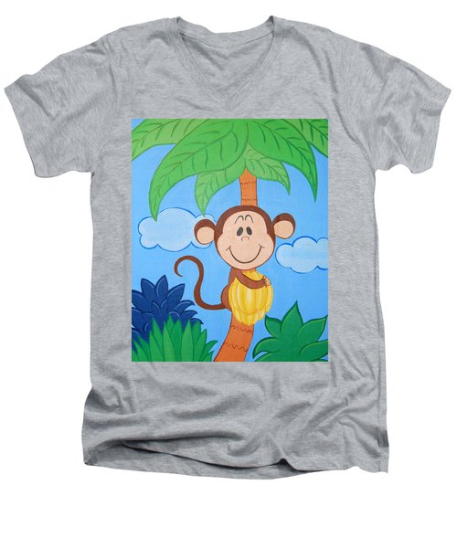 Jungle Monkey Men's V-Neck T-Shirt