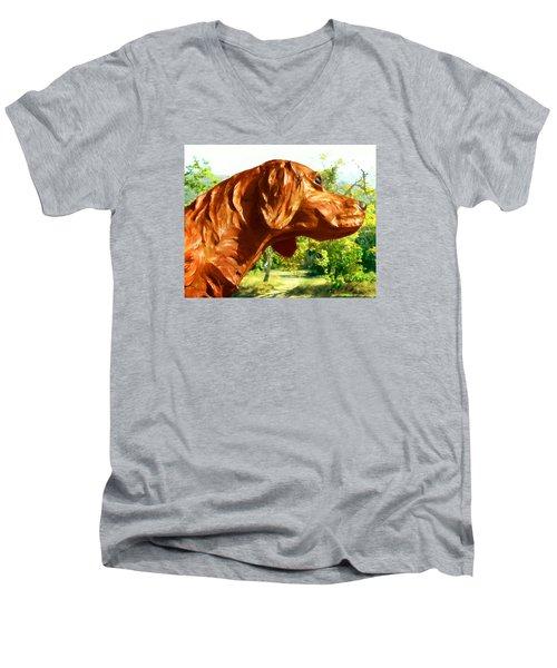 Junior's Hunting Dog Men's V-Neck T-Shirt