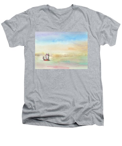 Junk Sailing Men's V-Neck T-Shirt by R Kyllo