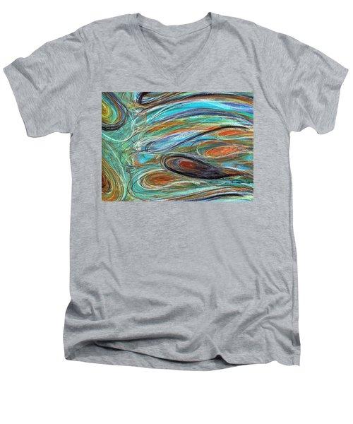 Jupiter Explored - An Abstract Interpretation Of The Giant Planet Men's V-Neck T-Shirt
