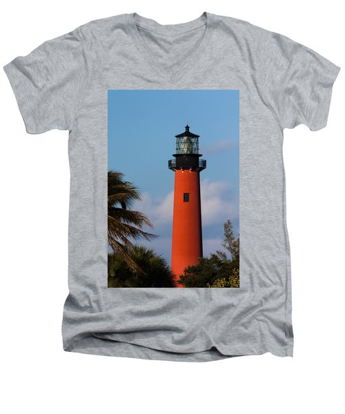 Jupiter Inlet Lighthouse Men's V-Neck T-Shirt