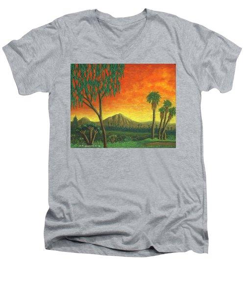 Jurassic Park Blvd 01 Men's V-Neck T-Shirt