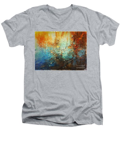 Just A Happy Day Men's V-Neck T-Shirt by Delona Seserman