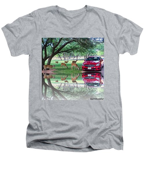 Just A Little Bit #crazy, #fun And Men's V-Neck T-Shirt